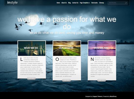 Elegant Themes – InStyle Demo : Premium WordPress Theme