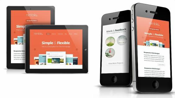 Nimble Responsive Preview - Business Theme