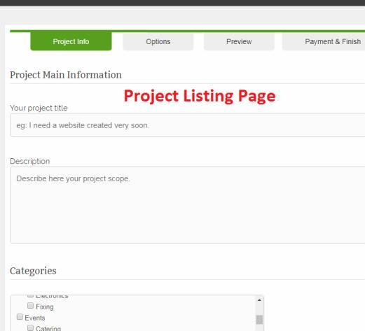Post Job - Project Bidding
