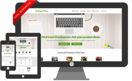 Responsive Project Bidding Freelancer Theme for Job Marketplace