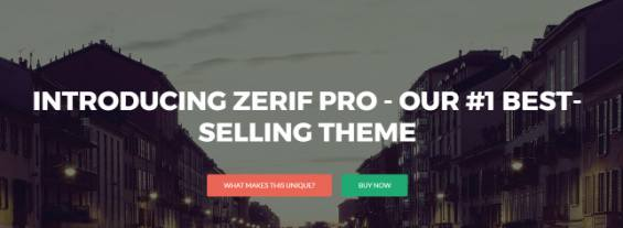 Top Section with Background Image - Zerif Styling Options