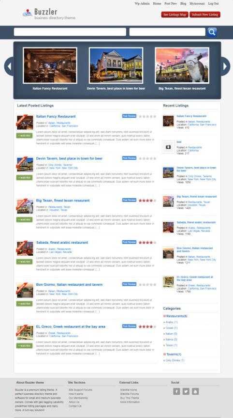 Buzzler Demo – SiteMile : WordPress Business Directory Theme
