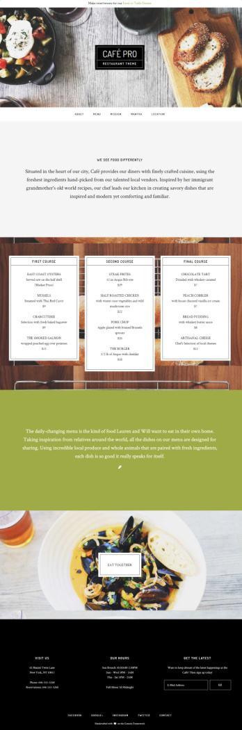 Cafe Pro Demo - Genesis Restaurant Theme by StudioPress