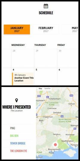 Event Map and Calendar - Speakersumo