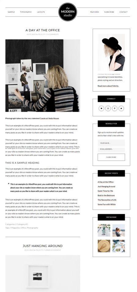 Modern Studio Pro StudioPress : Genesis Blogging Theme