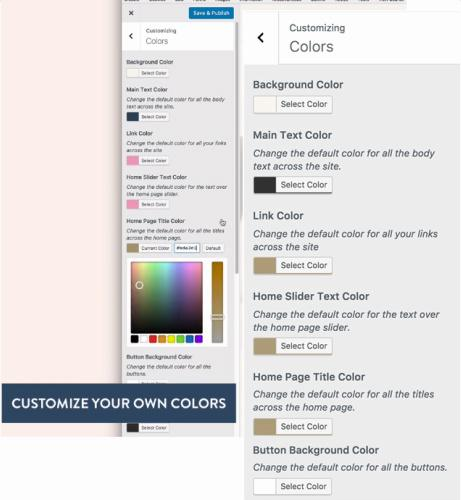 Refined Pro Customize Color Options
