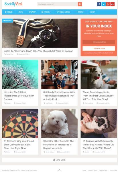 Mythemeshop SociallyViral Demo : Viral Blog WordPress Theme