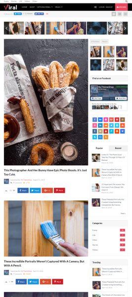 Viral Theme MyThemeShop - Social Media Blogging Theme