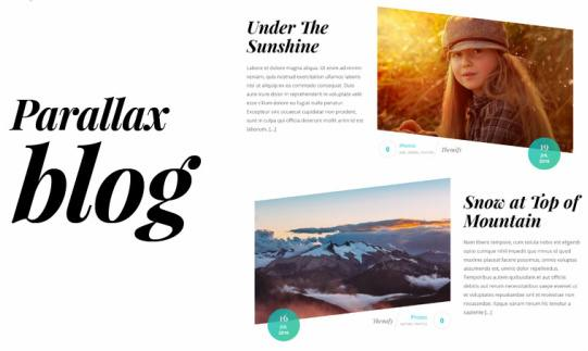 Blog Page with Parallax Scrolling - Float