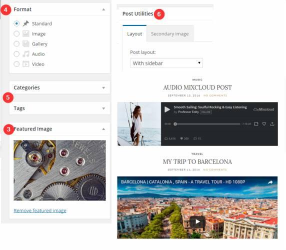 Custom Blog Post Formats - Olsen