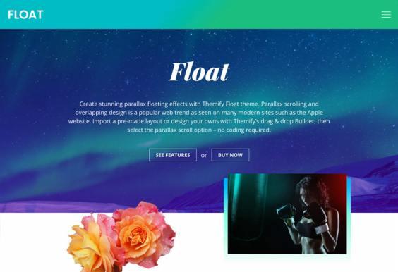 Float Demo Themify : Parallax Business WordPress Theme