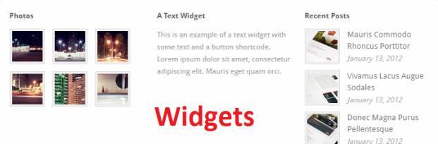 Footer Widgets - Uber Theme Trust