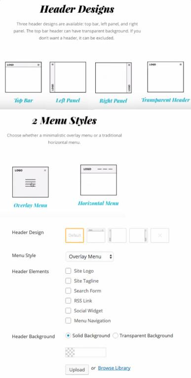 Header Design and Menu Styles - Float