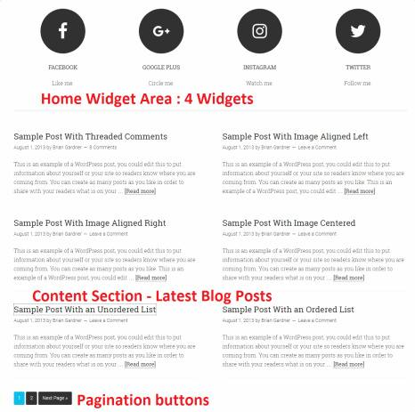 Homepage Content Section Preview