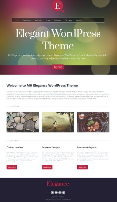 MH Themes MH Elegance : Responsive Business WordPress Theme