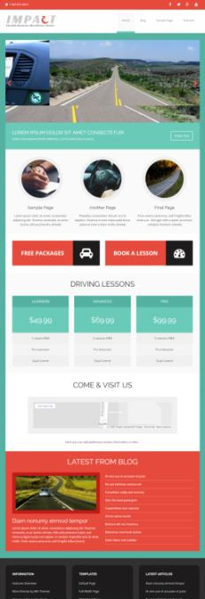MH Impact : Responsive Business WordPress Theme : MH Themes