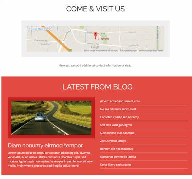 Map and Blog widgets - MH Impact