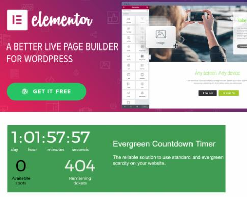 Page Builder and Evergreen Countdown Plugin