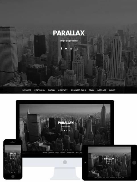 parallax theme