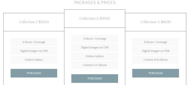 Pricing Table - Elegance Pro