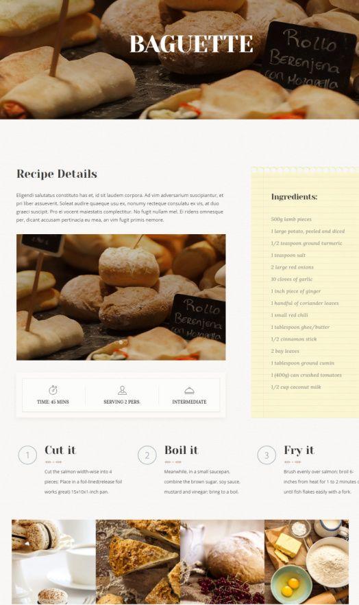 Recipes Listing - Molino Food Blog Theme