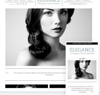 Responsive Photographty Theme - Elegance