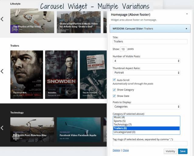 Carousel Widget - VideoBox