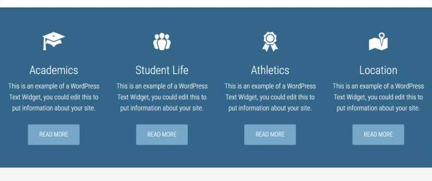 Featured Widget Section - Education Pro