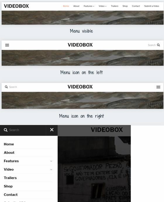 Header Layouts - VideoBox WPZOOM