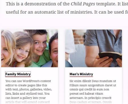 Ministries Page - Saved Churchthemes