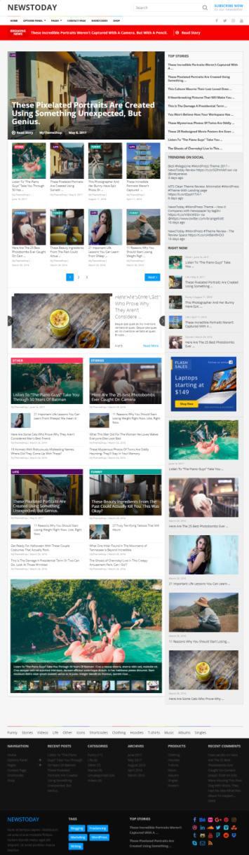 NewsToday MyThemeShop - News Blog Magazine WordPress Theme