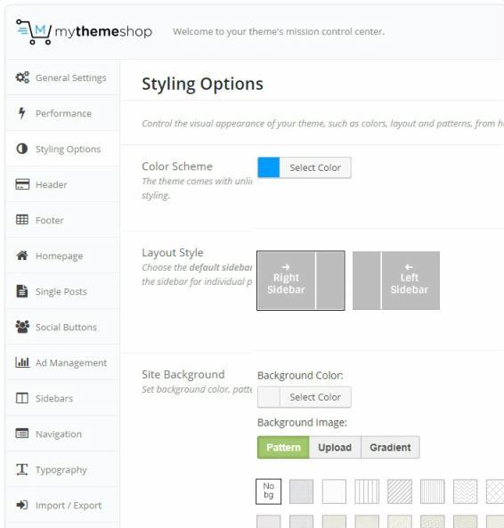NewsToday Options Page - Mythemeshop