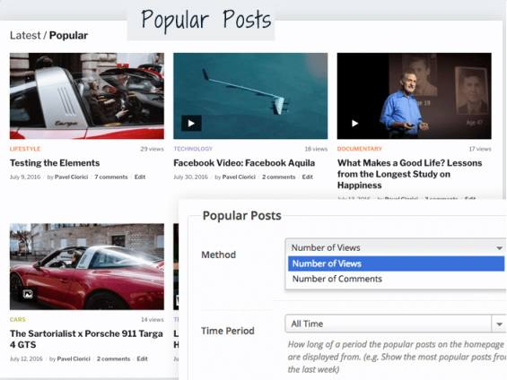Popular Posts Tab - VideoBox