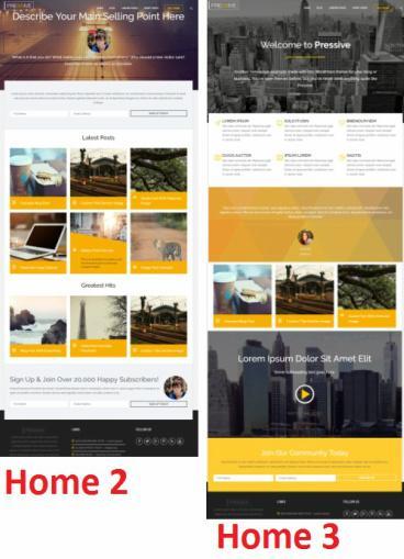 Pressive Homepage Demo Samples