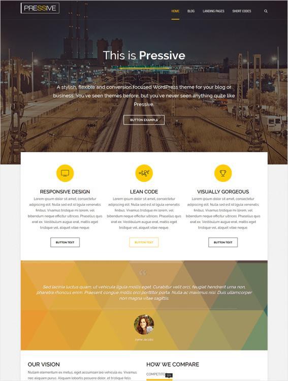 Pressive Business/Blog WordPress Theme : Thrive Themes Review