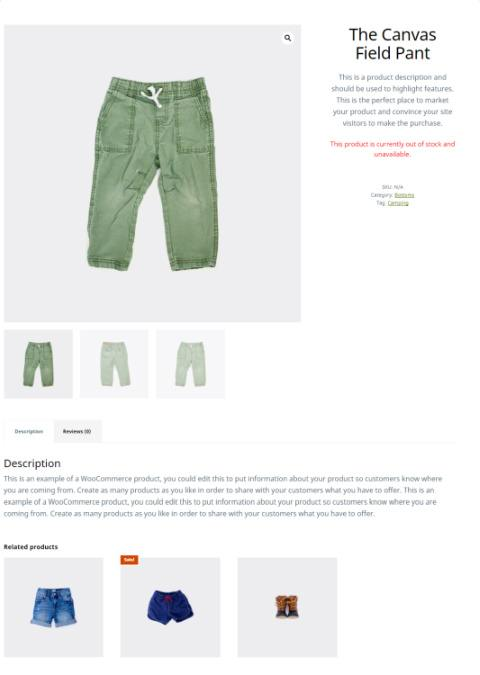 Product Page - Outfitter Pro eCommerce Theme