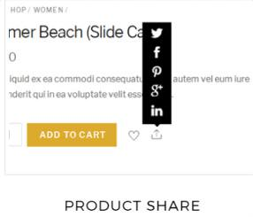 Product Share - Shoppe Social sharing buttons