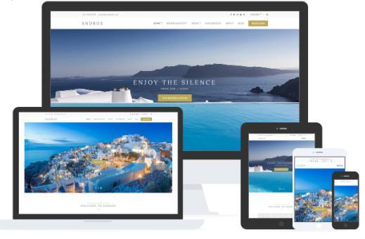 Responsive Hotel WordPress Theme - Andros