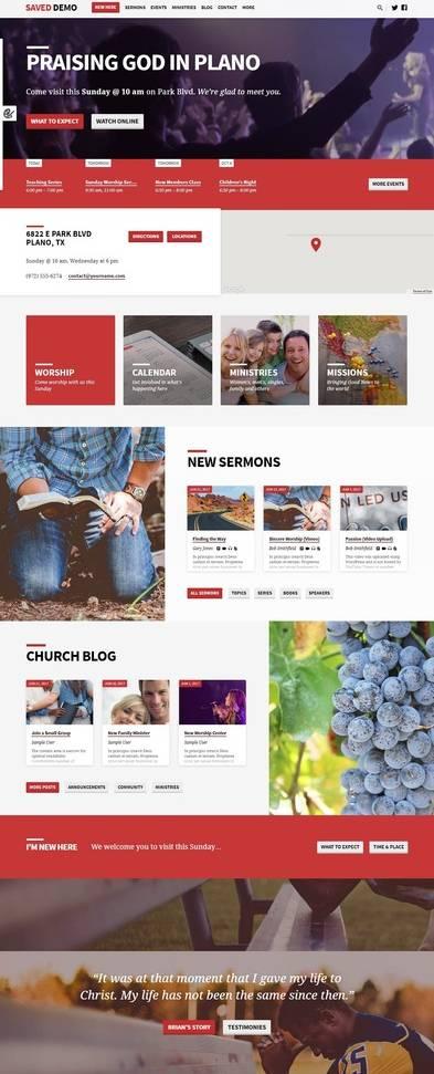 Saved WordPress Church Theme – churchthemes.com