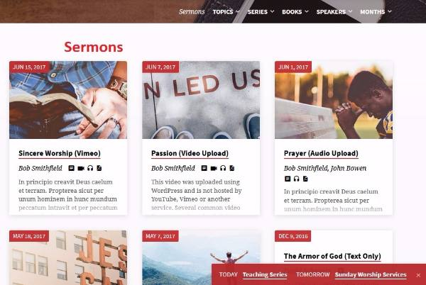 Sermons Page - Saved