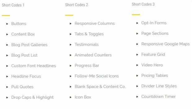 Shortcodes - Thrive Themes Pressive