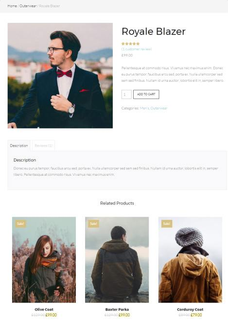 Single Product Page - Gear ThemeTrust