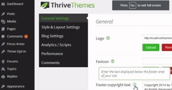 Thrive Themes Options