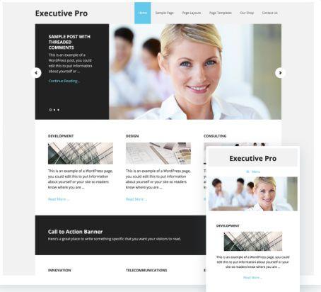 Executive Pro Genesis Child Business Theme – StudioPress