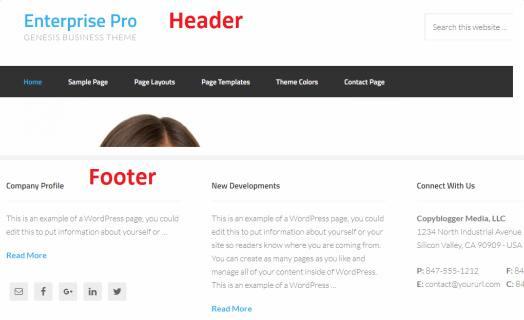 Header Footer - Enterprise Pro