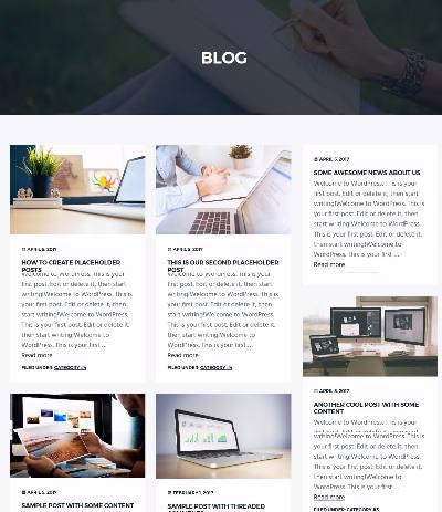Masonry Blog Template - Business Pro SEO Themes