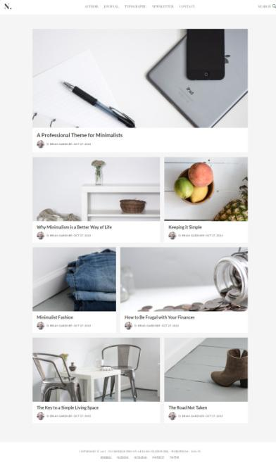 StudioPress No Sidebar Pro : Minimalist Genesis Blogging Theme