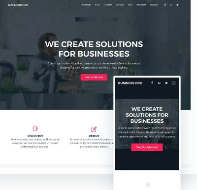 Responsive Business Theme by SEO Themes