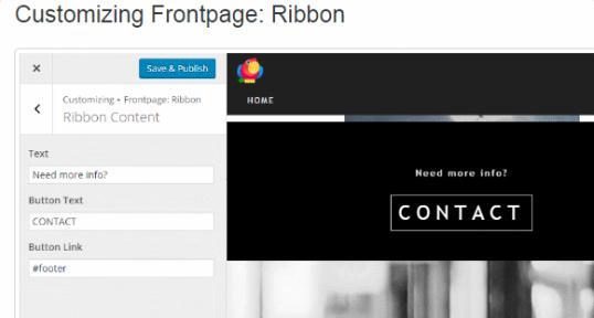 Ribbon Section - RokoPhoto ThemeIsle