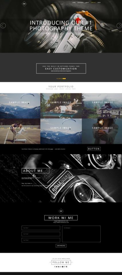 Rokophoto PRO Demo ThemeIsle - WordPress Photography Theme